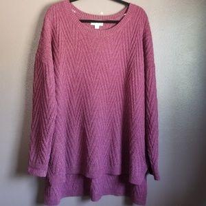 Ava & Viv purple sweater size 3X